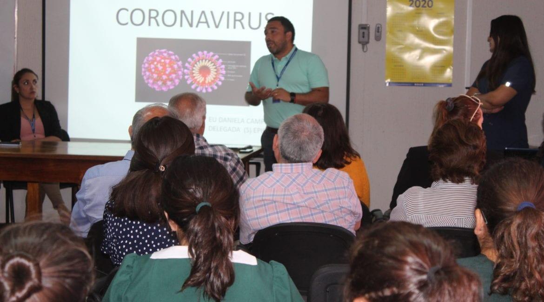 DAEM organiza charla para prevenir contagios de Coronavirus
